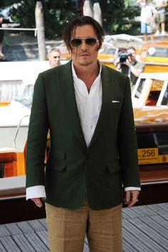 Johnny Depp at the Venice Film Festival