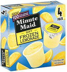 minuitemaid frozen fruit pops | Minute Maid Frozen Lemonade Nutrition Information | ShopWell
