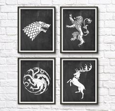 Game Of Thrones Wall Art game of thrones print house baratheon wall art homemimiprints