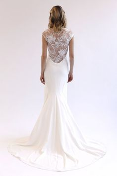 Illusion back wedding dress by Lela Rose