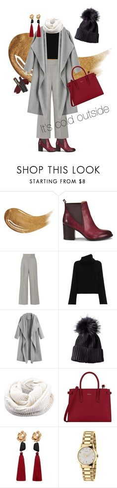 """""""Winter wonderland👩💼"""" by salolc ❤ liked on Polyvore featuring Too Faced Cosmetics, Söfft, Barbara Casasola, Chloé, Furla, MANGO, Gucci and L.A. Girl"""