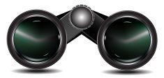 Binoculars   Lens vector art illustration