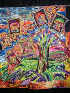 If Van Gogh had been a quilter, I think his quilts would have looked like this. Photo taken at Pacific International Quilt Show, 2011, and posted in the blog kwiltzbystephanie. No info provided in the blog about the maker.