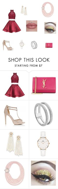 """D _ S"" by denissalihovic123 ❤ liked on Polyvore featuring Alyce Paris, Yves Saint Laurent, Orelia, Monica Vinader, STELLA McCARTNEY, Daniel Wellington and Miu Miu"