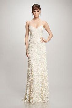Petal - #880631 - Hand embroidered petal dress.