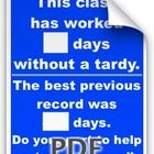 Classroom Tardy Poster