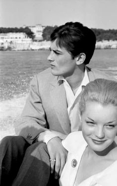 Romy Schneider & Alain Delon in Cannes, 1959