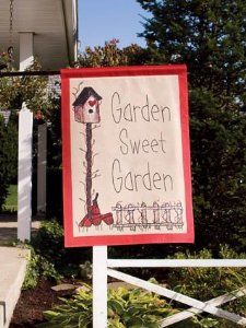 Garden Sweet Garden Large Outdoor Garden Flag 40 in. x 28 in.