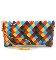 Bag made of recycled candy wrappers