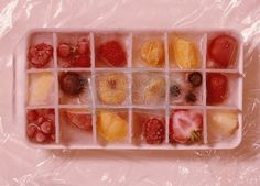 filled+ice | Fruit-filled ice tray | Something cool...