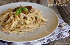trofie con pesto di pomodori secchi e ricotta ricetta primo piatto