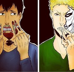 Attack on Titan ~~ I have such torn feelings for these guys... :: Bertholdt and Reiner.