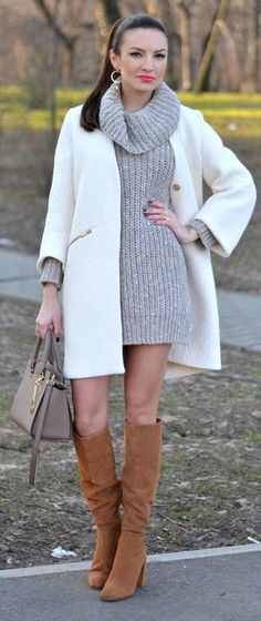 Light Tones Winter Outfit by My Silk Fairytale