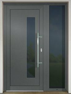 The plastic and aluminium doors manufactured by GAVAplast are characterized with modern design and excellent quality. Modern Entrance Door, Entrance Doors, House Main Door, Tall Cabinet Storage, Locker Storage, Plastic Design, Aluminium Doors, Door Design, Modern Design