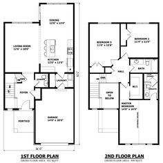 2 Story House Floor Plans simple two story house floor plans | house plans | pinterest