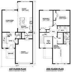 2 storey house layout