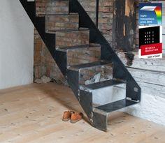schnittgutttreppe 8.0 von spitzbart treppen, treppe, designtreppe, metalltreppe, stahltreppe, stahl pur, innentreppe
