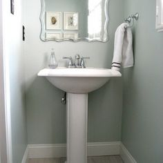 Sherwin Williams Sea Salt (Popular Paint Colors) I like this color for the new powder room