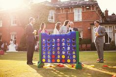 Yard Games: Oversized Board Games. def doing this for my wedding.