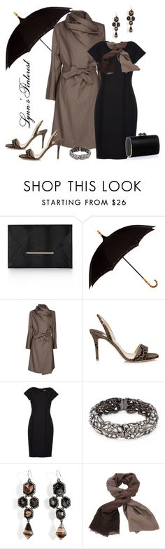 """Umbrellas - #2433"" by lynnspinterest ❤ liked on Polyvore featuring BCBGMAXAZRIA, Leighton, Ann Demeulemeester, Jimmy Choo, MaxMara, Alexis Bittar, Brunello Cucinelli and Trench"