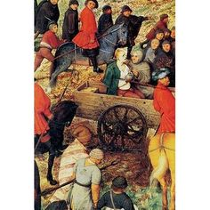 Buyenlarge 'Procession to Cavalry Detail' by Pieter the Elder Brueghel Painting Print