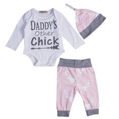 2e666cde1 Lindo Bebé Recién Nacido Body Mameluco Del Niño Pantalones Trajes Sombrero ropa  de bebé niña niña