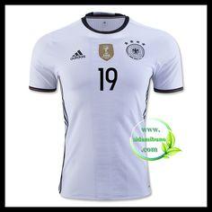 Billige Fotballdrakter Tyskland GOTZE 19 Hjemmedraktsett UEFA Euro 2016