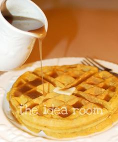 My cousin Shandi has some of the best recipes! She is an amazing cook and swears by these waffles. The BEST Pumpkin Waffles and Cinnamon Syrup - really.the BEST Cinnamon Waffles, Cinnamon Syrup, Pumpkin Waffles, Pumpkin Bread, Pumpkin Spice, Maple Syrup, Pumpkin Recipes, Fall Recipes, Waffle Maker Recipes