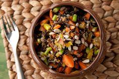 Wild Rice & Cayenne Roasted Veggie Salad w/ Maple Dressing