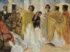 Alexandre Lunois. Pintor Francés 1863-1916.  ''Bailarinas de flamenco'' Ser artista...Es una enfermedad deslumbrante... Jorge Eduardo Eielson
