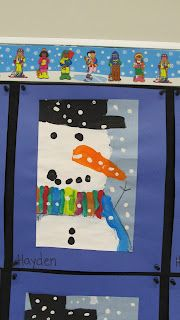 Snowman! Too cute. I totally want make this. Perhaps it will be my first day of winter craft.