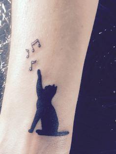 My first tattoo cat music