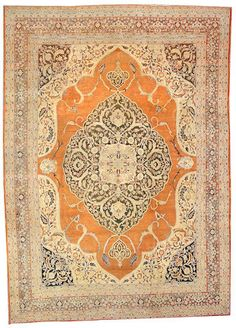 Tabriz carpet  Northwest Persia,  circa 1880  size approximately 9ft. 1in. x 12ft. 9in.
