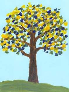 Ideas For Children's Art Lessons: Children's Art - Primary Colour Mixing, Yellow and Blue