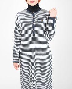 Mix Fabric Striper Jilbab