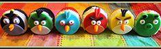 Custom Angry Bird cupcakes~Diane