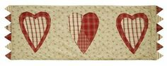 "Heartland 13"" x 36"" Table Runner by Victorian Heart Co., Inc.. $13.95. Machine washable, gentle cycle. For best results, line dry.. 100% cotton.. Measures 13"" x 36"". Warm sage and garnet give this collection country charm. Featuring a sawtooth edge and reversing to a tan, ditzy print fabric. Available in quilts, bedding accessories, window treatments and kitchen coordinates."