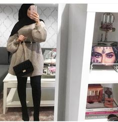 styles of Hijab Chic for a winter 2019 in all elegance - Hijab Fashion . styles of Hijab Chic for a winter 2019 in all elegance – Hijab Fashion … Hijab Chic, Casual Hijab Outfit, Hijab Dress, Muslim Women Fashion, Modern Hijab Fashion, Islamic Fashion, Elegance Fashion, Hijab Styles, Hijab Fashionista