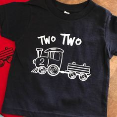 Fashion Jeans For Toddlers 2nd Birthday Party For Boys, Second Birthday Ideas, 2nd Birthday Shirt, Trains Birthday Party, Twin Birthday, Train Party, Birthday Stuff, Pirate Party, Two Year Olds