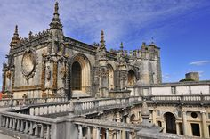 Convent of Christ (Romanesque, Gothic, Manueline and Renaissance), founded by the Templar Grand Master Gualdim Pais in 1160, Tomar - Portugal