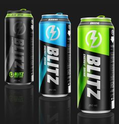 BLITZ energy drink / packaging by Sofiane Yaya, via Behance