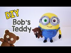 DIY Minion Bob's Teddy Bear Tim Sock Plushie - YouTube