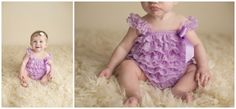 Captured by Kay Photography Weyburn, SK Girls Dresses, Flower Girl Dresses, Purple Lace, Photographing Babies, Rompers, Wedding Dresses, Baby, Photography, Fashion
