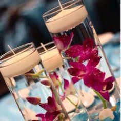 Decorando a mesa do jantar com velas