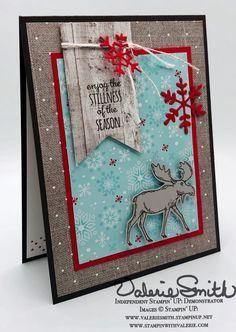 Christmas Moose, Stampin Up Christmas, Christmas Cards To Make, Xmas Cards, Holiday Cards, Christmas Diy, Christmas 2019, Christmas Flyer, Christmas Sewing