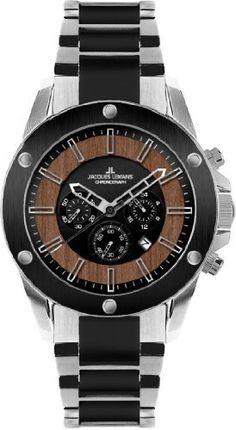 Jacques Lemans Men's 1-1690C Liverpool Wood Sport Analog Chronograph Watch Jacques Lemans. $234.84
