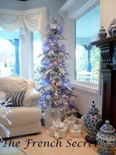Navidad púrpura tul guirnalda cinta Navidad por TheFrenchSecret