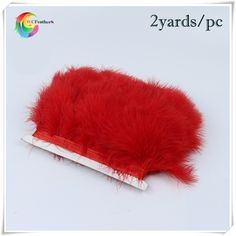 2yards good quality red turkey feather trims for fashional women's underclothes