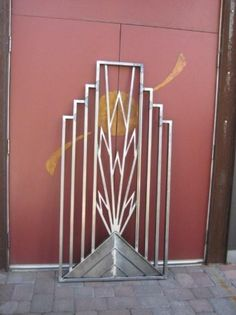 Art Deco Styling - work in progress Art Nouveau, Gates And Railings, Art Deco Door, Great Gatsby Theme, Art Deco Stil, Diy Porch, Wrought Iron Gates, Art Deco Design, Garden Gates