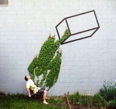 Quand le street art investit les villes en cohabitant avec la nature
